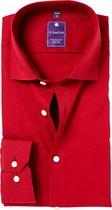 Redmond Slim Fit overhemd - rood - Strijkvriendelijk - Boordmaat: 37/38