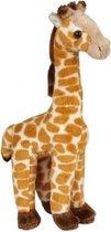 Pluche gevlekte giraffe knuffel 23 cm - Giraffen safaridieren knuffels - Speelgoed knuffeldieren/knuffelbeest voor kinderen
