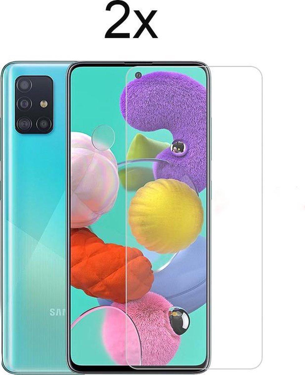 Samsung a51 Screenprotector - Beschermglas Samsung galaxy a51 Screen Protector Glas - 2 stuks