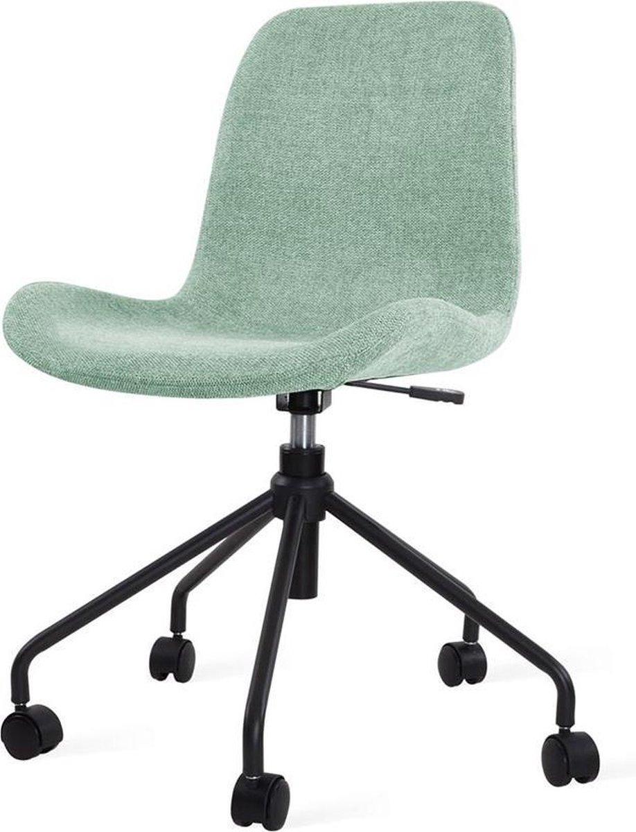 Nolon Nout bureaustoel zwart - Zacht groene zitting