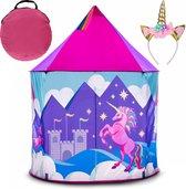 LifeGoods Unicorn Speeltent voor Kinderen - Voor Kinderen vanaf 3 Jaar - Jongens / Meisjes - Met Bodem - Inclusief Magische Eenhoorn Hoofdband