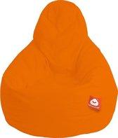 Whoober Peervorm Zitzak Barça outdoor oranje - Wasbaar - Geschikt voor buiten