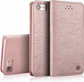 Xundd - iPhone 8 + (Plus 5.5 inch) ultra Soft Portemonnee hoesje / book case met pasjes Rose Goud