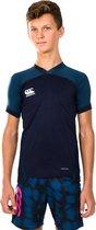 Canterbury Sportshirt - Maat 164  - Unisex - navy/donkerblauw/wit