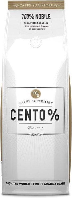 Cento% Nobile | Gebrande Koffiebonen | koffie | 750 gram | 100% Arabica