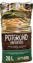 Potgrond universeel - 20 liter - voor bloeiende en groene planten, terrasplanten en kamerplanten
