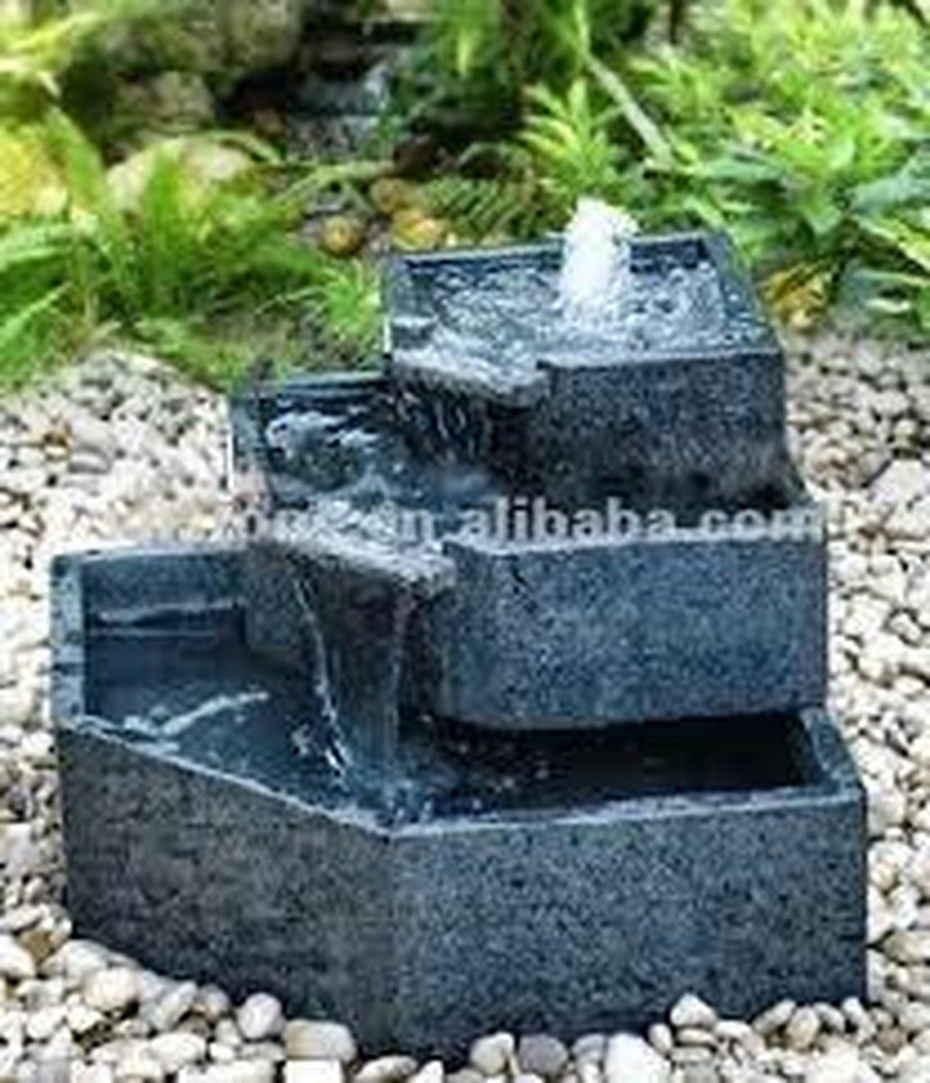 Fontein Cascade Graniet   Waterornamenten   Terrasfonteinen   1 Jaar Garantie
