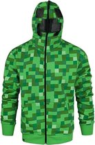 Minecraft creeper hoodie -M - Groen