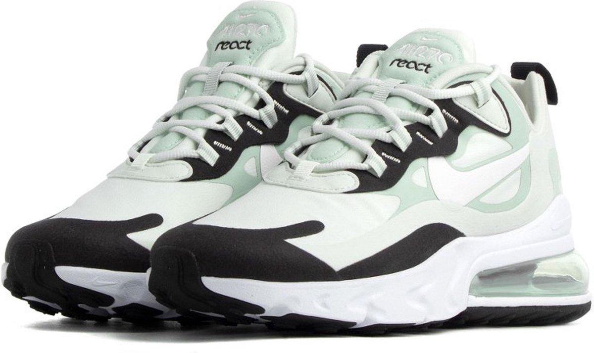 Nike Air Max 270 React Sneakers Maat 39 Vrouwen licht groenzwartwit