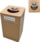Kartonnen afvalbak Restafval type smile (herbruikbaar)