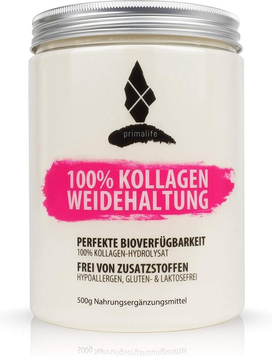 100% zuiver Collageen hydrolysaat • 500 g • zonder toevoegingen • Optimaal voor Paleo, atkins, wordt en koolhydraatarm dieet • in Duitsland geproduceerd •