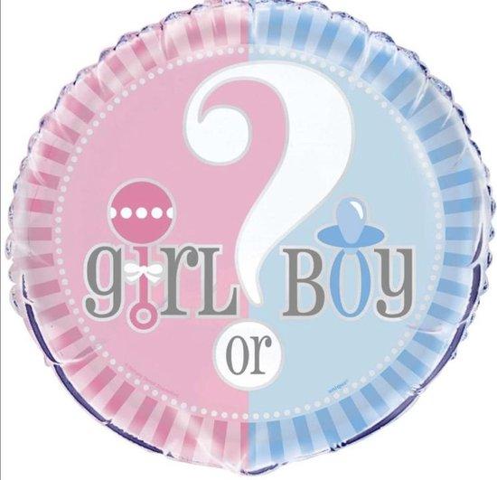 He or She Gender Reveal Ballon 18 Inch