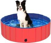 Hondenzwembad | Dog pool|  Hondenbad | Huisdier | Verkoeling | Waterspeelgoed | Rood | PVC 80x80x30 cm|zwemmen| Kinderzwembad