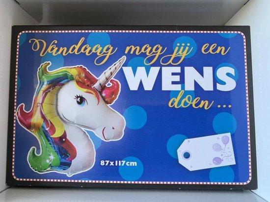 Folie ballon Unicorn (Eenhoorn) 87 x 117 cm