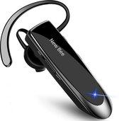 New Bee VIP™ - Draadloze headset - Bleutooth 5.0  - Wireless carkit Auto - Office koptelefoon - Handsfree Bellen - Werk oordopjes - Bluetooth Noise cancelling