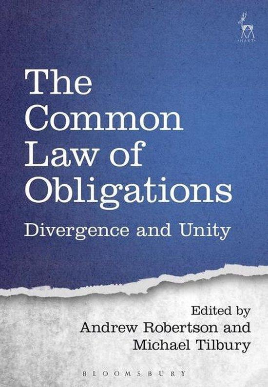 Boek cover The Common Law of Obligations van Andrew Robertson (Hardcover)