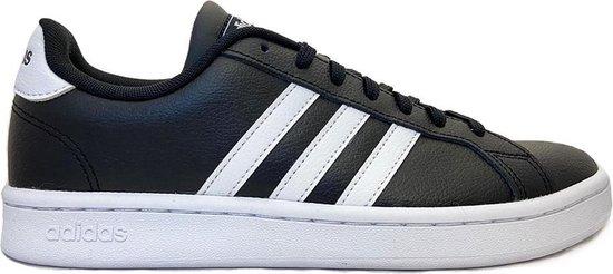 adidas Grand Court Heren Sneakers - Core Black/Ftwr White/Ftwr White - Maat 42