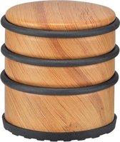 Bamboe deurstopper 7 cm - Huishouden deurstoppers/deurwiggen - hout/metaal