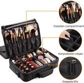 Cosmetica Koffer - Make-up Koffer met verstelbare vakken - Visagie en Nagelstyliste Beauty Koffer - 41x31x15CM