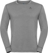 Odlo Suw Top Crew Neck L/S Natural 100% Merino Warm Heren Thermoshirt - Grey Melange - Maat XXL