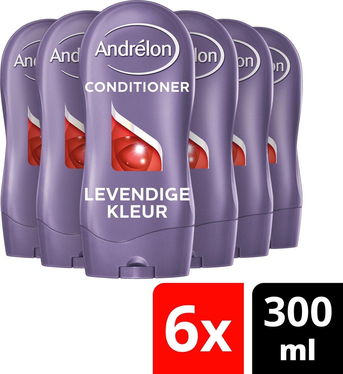 Andrélon Levendige Kleur Conditioner 6 x 300 ml - Voordeelverpakking - Andrélon