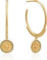 Ania Haie 925 Sterling Zilveren Golddigger Emperor Oorbellen  - Goud