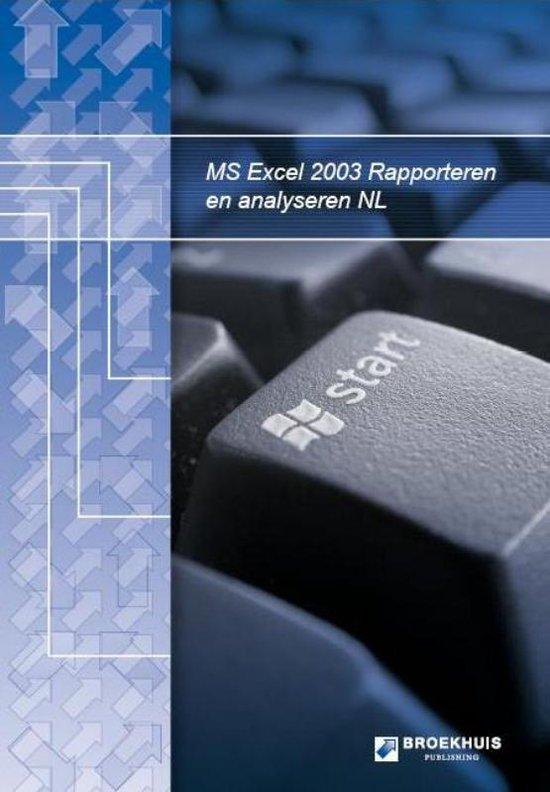 Cover van het boek 'Rapporteren en Analyseren met MS Excel'