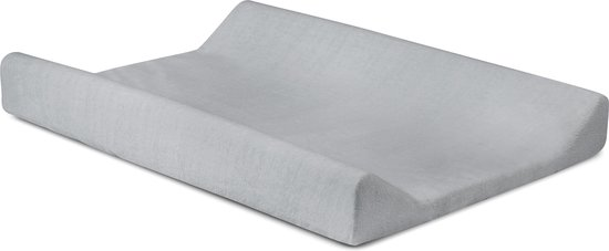 Waskussenhoes badstof 50x70cm soft grey
