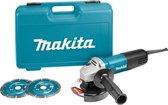Makita 9558HNRGK2 Haakse slijper - 840 W - 125 mm