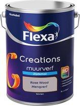 Flexa Creations - Muurverf Zijde Mat - Rose Wood - Mengkleuren Collectie - 5 Liter