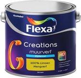 Flexa Creations - Muurverf Zijde Mat - Mengkleuren Collectie - 100% Limoen  - 2,5 liter