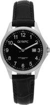 Olympic OL72DSL044 Horloge - Leer - Zwart - 29mm