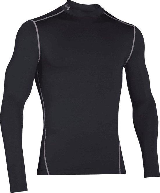 Under Armour ColdGear Compressie Longsleeve Thermo Heren Sportshirt - Zwart - Maat M