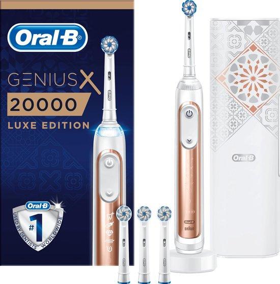 Oral-B Genius X 20000 Luxe Edition Volwassene Roterende tandenborstel Roségoud, Wit