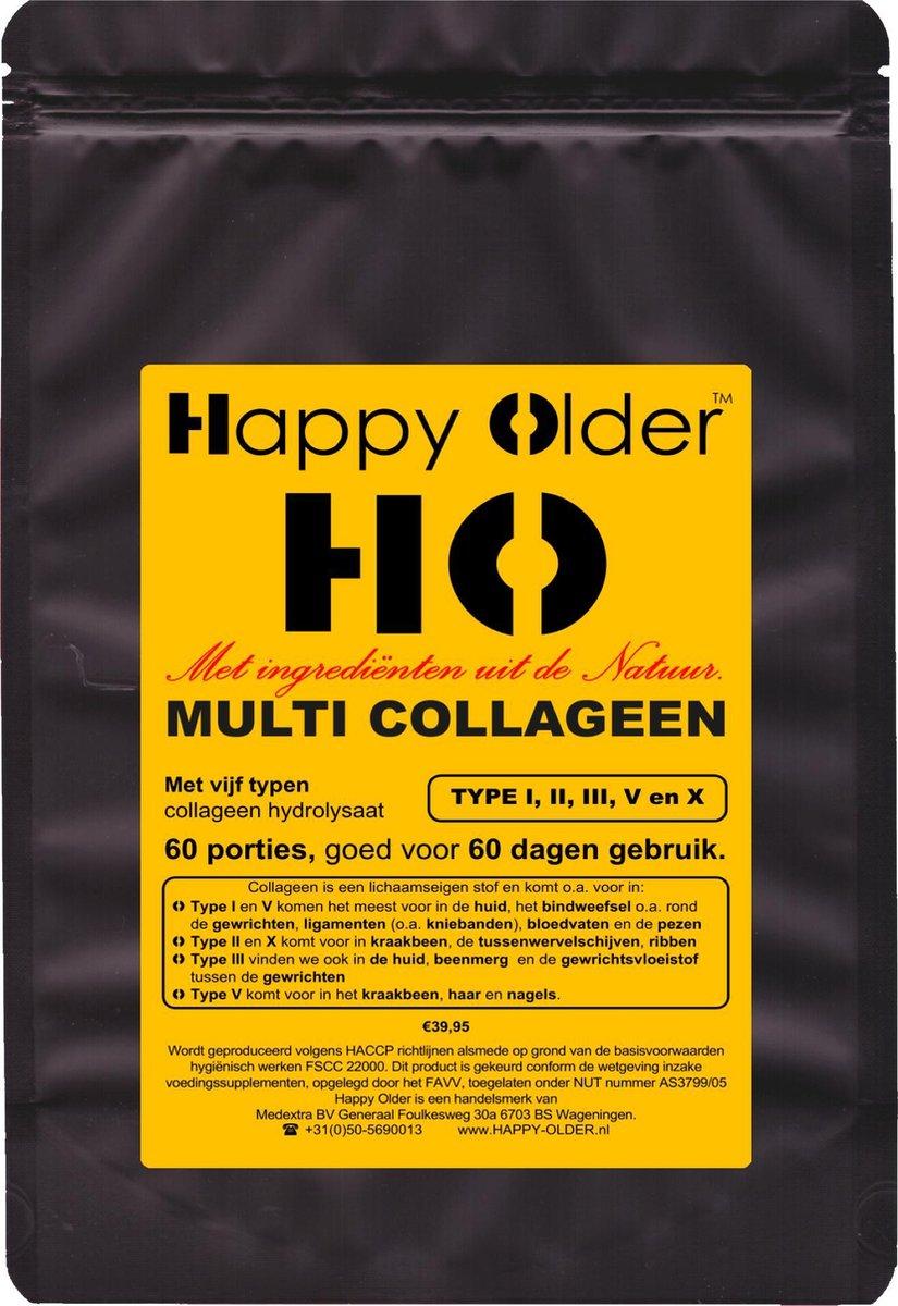 MULTI COLLAGEEN met Type 1, 2, 3, 5 en 10 collageen poeder voor 60 dagen. Totaal 600 gram poeder, in