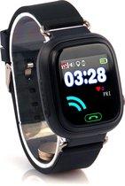 Connect Touch zwart - GPS horloge kind met telefoon - LED touchscreen - Werking in heel Europa