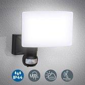 B.K.Licht - LED buitenlamp met bewegingssensor - IP44 - wandlamp met sensor - zwart