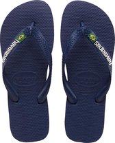 Havaianas Brasil Logo Unisex Slippers - Navy Blue - Maat 43/44