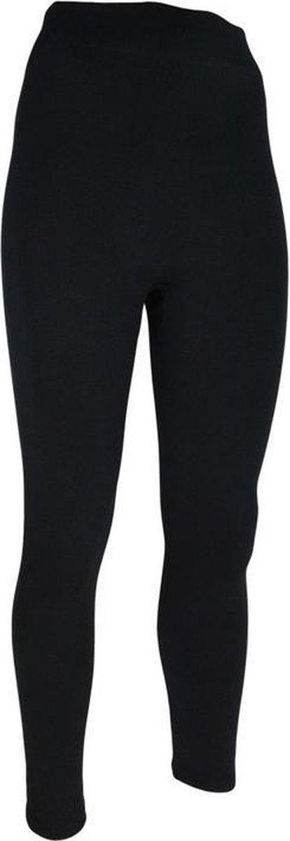 Thermo broek lang voor kinderen zwart - Wintersport kleding - Thermokleding - Lange thermo broek/legging - Kinderlegging 128/134 (8/9 jaar)