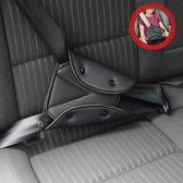 Auto Gordel Beschermer - Gordelhoes - Kind Nek Bescherming - Zwart ✅