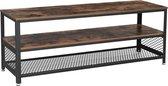 Tv meubel industrieel - xxl geschikt voor 60inch tv - 140x40x52 B
