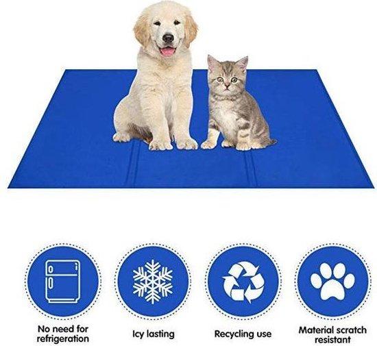 Koelmat hond en kat| Medium| 40 x 50 cm| afkoeling voor honden en katten| warmte| verkoeling voor huisdieren| verkoelmat