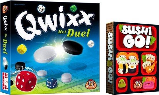 Afbeelding van het spel Spelvoordeelset Qwixx Het Duel & Sushi Go