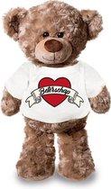 Beterschap pluche teddybeer knuffel 24 cm met wit t-shirt - beterschap /...