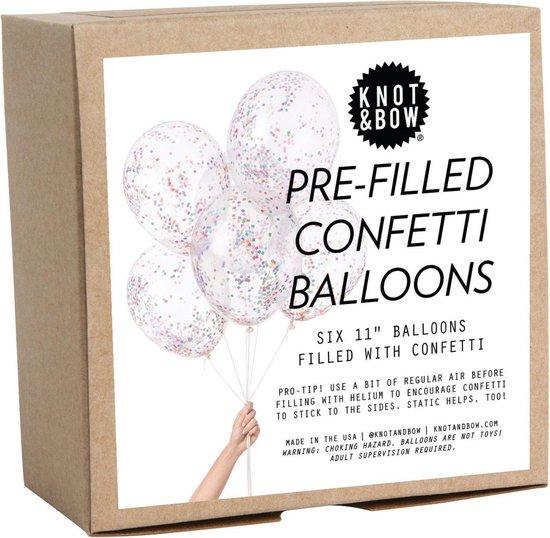 Knot & Bow   Confetti Ballon Mix   Kleine Regenboog   6 stuks   30cm