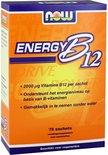 Now Foods - Instant Energy B-12 2000 μg - Bevat Verschillende B-Vitamines - 75 Zakjes