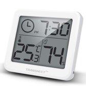 Weerstation - Digitale thermometer en hygrometer met hoge nauwkeurigheid - Vernieuwen van 10 seconden - Tijd - Gegevensgeschiedenis binnen 24 uur - Wit