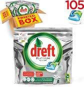Dreft Platinum All In One - Kwartaalbox 5x21 Stuks - Vaatwastabletten