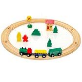 19-delige kinderspeelgoedspoorwegspeeltoestel voor kinderen houten speelgoedspoorweg natuurlijk hout