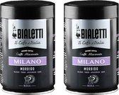 Bialetti Milano gemalen koffie - 2 x 250 gram